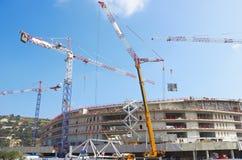 Construction of modern stadium Stock Image