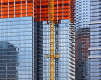 Construction of a modern tall building Royalty Free Stock Photo