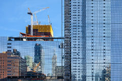 Construction of a modern tall building Royalty Free Stock Photography