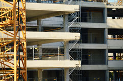 Construction of modern urban commercial architecture Royalty Free Stock Photography