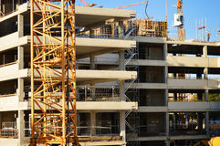 Construction of modern urban commercial architecture.  Stock Photos