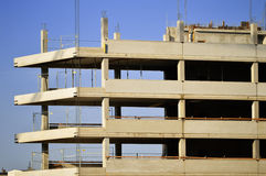 Construction of modern urban commercial architecture Royalty Free Stock Image