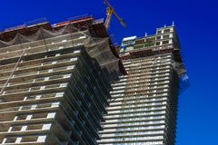 Construction of modern urban residential architecture royalty free stock images