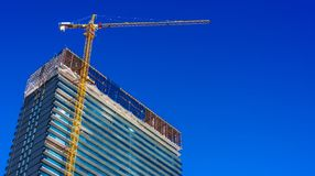 Construction of modern urban residential architecture royalty free stock photography