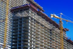 Construction of modern urban residential architecture royalty free stock photo