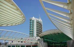 Construction moderne à Lisbonne. Image stock