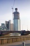 Construction moderne à Londres en construction Images stock