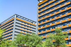 Construction moderne avec le ciel Images stock