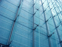 Construction moderne bleue Photographie stock