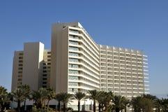 Construction moderne d'hôtel. image stock