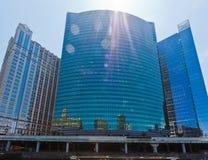Construction moderne d'hublot en verre de Chicago Photographie stock
