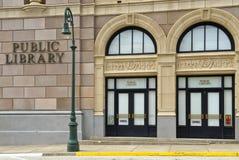 Construction moderne de bibliothèque publique images libres de droits