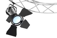 Construction moderne de projecteur d'étape en métal rendu 3d Photo libre de droits