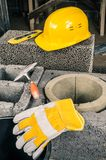 Construction of a modular chimney royalty free stock photography