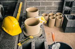Construction of a modular chimney royalty free stock images
