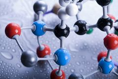 Construction moléculaire images libres de droits
