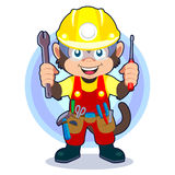 Construction Monkey Royalty Free Stock Images