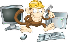 Construction monkey Royalty Free Stock Image