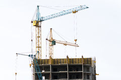 Construction of monolithic homes Stock Images