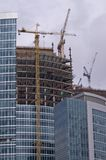 Construction of Moscow business center (2). Construction of new Moscow business center on the bank of Moscow river. The picture has been taken on Sep 09, 2006 Royalty Free Stock Photography