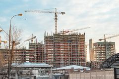 Construction in Moscow Stock Photography