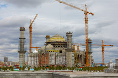 Construction of the mosque Stock Images