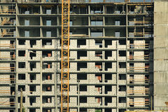 Construction of multi-family  houses Stock Image