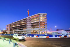 Construction of multi-level car parking. Moscow region, Domodedovo, Russia - December 15, 2016: Construction of multi-level car parking on the territory of the Royalty Free Stock Images