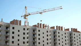 Construction of multi-storey brick building stock footage