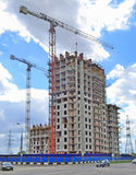 Construction of a multi-storey building royalty free stock image