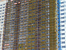 Construction of multi-storey building Stock Images