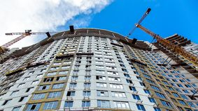 Construction of a multi-storey building. royalty free stock photos