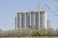 Construction of multi-storey buildings on monolithic technology Royalty Free Stock Images
