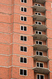 The construction of multi-storey houses of red brick Stock Image