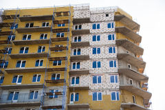 Construction of multi-storey residential building Royalty Free Stock Photography