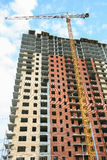 construction of multi-storey residential building Royalty Free Stock Images