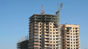 Construction of multi-storey residential complex stock video footage