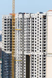 Construction of multi-storey residential house Royalty Free Stock Images