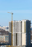 Construction of multi-storey residential house Stock Image