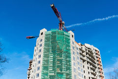 Construction of  multi storey residential house Stock Photos