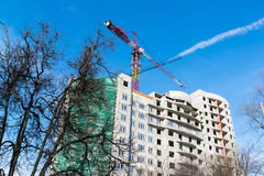 Construction of  multi storey residential house Royalty Free Stock Photos