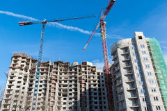Construction of  multi storey residential house Royalty Free Stock Photo