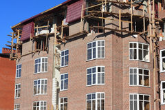 Construction of multi-storied brick houses Stock Photography