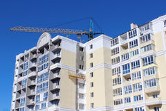 Construction of multistorey modern house Stock Image