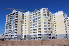Construction of multistorey modern house Stock Photo
