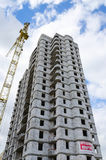 Construction of multistorey residential building Stock Photography