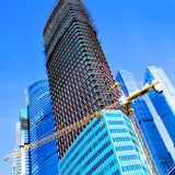Construction of multistory building Stock Image