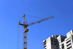 The construction of a multistory building Royalty Free Stock Image