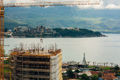 Construction of a multistory building in Budva, Montenegro. Buil Royalty Free Stock Photo