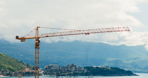 Construction of a multistory building in Budva, Montenegro. Buil Royalty Free Stock Photography